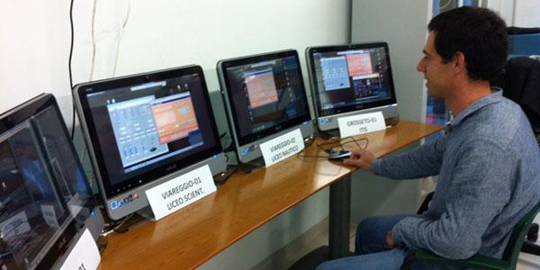 Control Room nel dipartimento INFN di Pisa